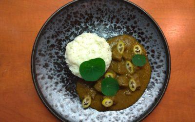 Hovězí kari se špenátem a basmati rýží